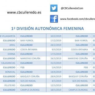 CALENDARIO SENIOR FEMENINO